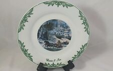 Currier & Ives Collector Plate (1) 2002 Central Park In Winter