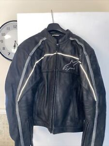 Alpinestar leather jacket. Size L US, Pre-owned