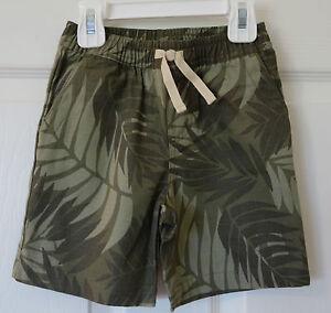 NWT  Janie and Jack Coastal Jungle Green Shorts ~ Boy's Size 18-24 Month
