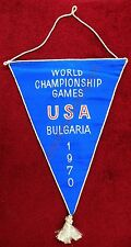 1970 6th World Women's Volleyball Championship USA In Bulgaria Banner/Flag