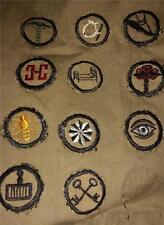 1918-1928 Girl Scout KHAKI UNIFORM - with 11 Khaki Badges