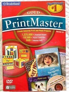 Printmaster Gold v18 (for PC) *New*