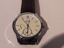 Herren Armbanduhr schwarz Leder