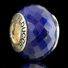 Alducchi Sapphire Faceted  .925 Sterling Silver European Charm Bead