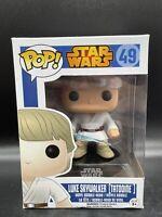 Funko Pop - Luke Skywalker Tatooine #49 - Vaulted Vinyl Figure In Pop Protector