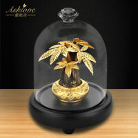 Fortune Tree Money Tree Collect Wealth Ornament 24K Gold Foil Crafts Home decor
