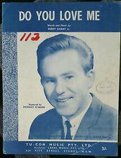 ♫ JOHNNY O'KEEFE vintage sheet music DO YOU LOVE ME ♫