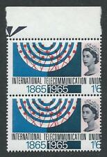 1965 ITU 1/6 (Ord) - Excellent Perf Shift Left - MNH