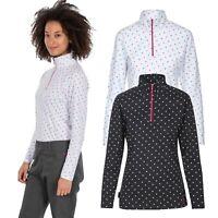 Trespass Womens Long Sleeve 1/2 Zip Pullover Gym Top Active Workout Betty Ii