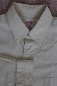 Brooks Brothers All Cotton Button Front Shirt Size 15.5 - 4