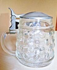 Bierkrug, warnog, Seidel, jarra con estaño tapa, aprox. 13 cm de alto