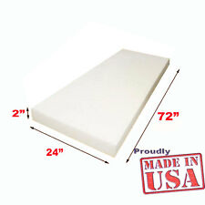 "2"" X 24""X72"" High Density Foam Upholstery Foam Cushion-free shipping Made in USA"