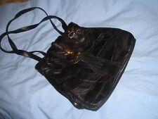 band new vintage style black leather patchwork handbag shoulder bag 1970s style