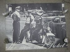 Vintage Harley Jd Antique Police Motorcycle Champion 20/'s Racing Poster 20x28