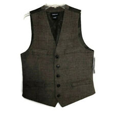 Claiborne Liz Wool Blend Waistcoat Vest Bundle of Two Brown Gray Mens Small New