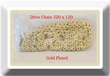 Gold Plated Color Drive Chain 520x120L For ATV Motorcycle Kawasaki 1979-2018