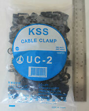 100 P Clip 9.5mm Cable Clamps Black Nylon holds up wire conduit split loom KSS