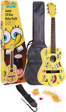 CHILDRENS KIDS GIFT TOY JUNIOR CLASSICAL GUITAR PACK w BAG STRAP PICKS STRINGS