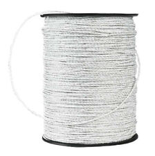 Electric Fence Trident Poly Wire White 660'