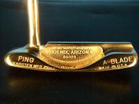 """Vintage Right Handed Ping Karsten Vintage A-Blade 33 1/2"""" Putter Introduced 1967"""
