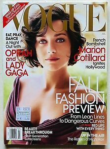 US Vogue magazine USA july 2010 luglio Marion Cotillard Lady Gaga Mario Testino