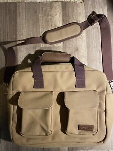 Bella Russo Cotton Canvas Computer Bag - Travel Bag - Full Strap - Hand Strap