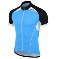 Men's Cycling Jackets Bike Bicycle Mountain Jerseys Short Sleeve L-2XL Blue