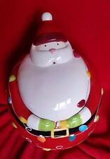 Vintage Santa Claus Cookie Jar Gibson Large Porcelain Christmas Holiday