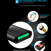 TOMO M4 DIY Smart Power Bank Case Box 4x18650 Battery Dual Output USB Charger ME