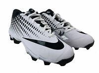Nike Kid's Vapor Ultrafly 2 Keystone Baseball Cleats White Black Size 5