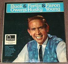 BUCK OWENS, FERLIN HUSKY, FARON YOUNG. ( UK, FONTANA, FJL 307)