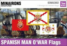 Minairons 1:600 Age of Sail - 17th century Spanish Man o'War flags