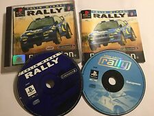 2 PAL PS1 PLAYSTATION 1 PSone RACE RACING Games Colin McRae + Tommi MAKINEN RALLY
