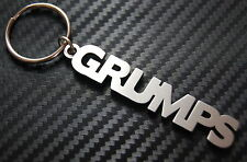 GRUMPS Grumpy Moody Crabby Keyring Keychain Key Fob Bespoke Stainless Steel Gift