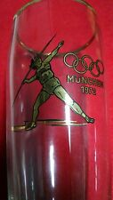 1972 MUNCHEN Olympiade Glas Bruce Jenner Track Javelin 0.5 Liter