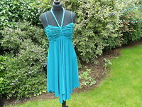 NEW LOOK DRESS SIZE 10 STRAPPY JADE GREEN SUMMER PARTY / COCKTAIL DRESS 343