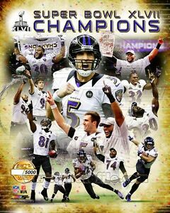 Baltimore Ravens Serial# Super Bowl XLVII Champions Photo Only 5,000 Produced