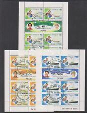 Nevis - 1981, Royal Wedding sheets x 3 - F/U - SG 72/7 (a)