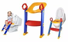 Children's Toilet Seat Ladder with Handles Potty Training For Kids Safe Foldable