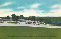 Burnside Kentucky~Lakeview Motel And Restaurant~US 27~1940s Linen Postcard