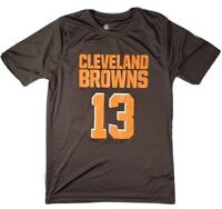 Boys NFL Cleveland Browns Odell Beckham JR large shirt brown