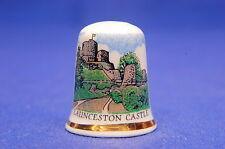 Launceston Castle, Cornwall Exclusive China Thimble B/170