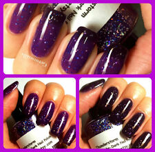 """Color Changing Nail Polish - Purple to Black - """"Thunderstorm"""" - Thermal"""