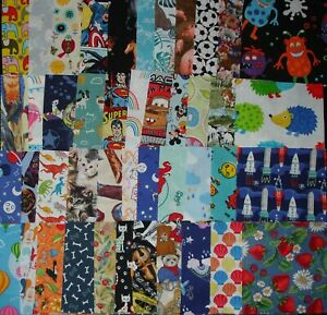 40 Novelty cotton fabric  charm squares for I-Spy quilts all different