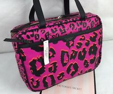 Victoria's Secret Travel Case Pink Cosmetic MakeUp Organizer Bag Leopard NWT