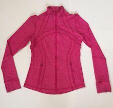 Lululemon Define Jacket Rare Heathered Pink Yoga Zip Up - No signs of wear Sz 6