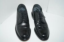 Sears  Black Pebbled Leather Longwing Wing Tips Oxfords Men 74608 Sz 11 D