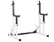 NEW Adjustable Squat Rack with Spotters & Dip Bars Home Squating Racks Holders