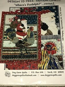 Christmas Quilt Design to Free Motion Line Where's Rudolph by Dog Gone Quilts