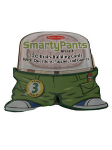 Melissa & Doug Smarty Pants GRADE 3 - 120 Brain Building Cards Teacher Approved